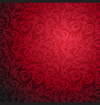 ornamental red pattern vector image vector image