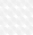 Paper white merging spirals vector image vector image