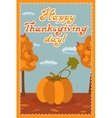 Pumpkin Happy thanksgiving day card with child vector image vector image