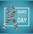 rare disease awareness day vector image vector image