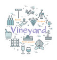 round concept of vineyard vector image vector image