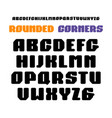 sanserif square font with rounded corners vector image vector image