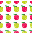seamless apples pattern vector image