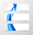 Set of header banner wavy design vector image vector image