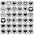 Set of Heart Icons vector image