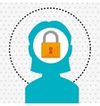 silhouette padlock safe icon vector image vector image