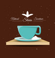 stevia natural sweetener and a cup vector image vector image
