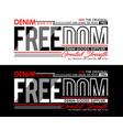 typography denim freedom sport vector image vector image