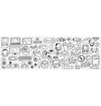various smart gadgets doodle set vector image vector image
