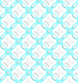 White ornament with cyan seamless vector image vector image