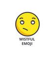 wistful emoji line icon sign vector image