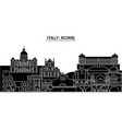 italy rome architecture city skyline vector image