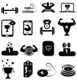Gym fitness icons set vector image