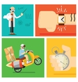 Express delivery concept icon set vector image