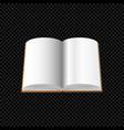 open book with blank pages isolated on transparent vector image