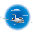 private air jet vector image