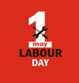 1 may - labour day logo concept with wrenches vector image