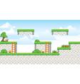 2D Tileset Platform Game vector image