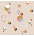 Abstract background with colorful cubes vector image vector image