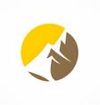 abstract mountain logo vector image vector image