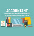 accountant concept banner flat style vector image vector image