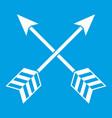 arrows lgbt icon white vector image vector image