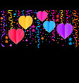 background with paper hearts vector image vector image