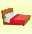 bed icon interior home rest sleep furniture vector image vector image