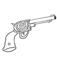 black and white gun vector image vector image