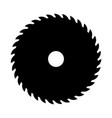 black circular saw sign or icon symbol of vector image vector image