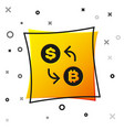 black cryptocurrency exchange icon isolated on vector image vector image