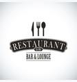 Black restaurant design vector image