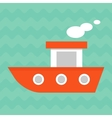 bright summer boat vector image vector image