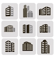 Buildings web sticker icons set