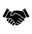 business handshake or partnership agreement icon vector image