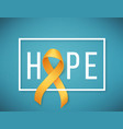 childhood cancer day vector image vector image