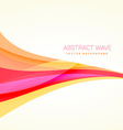 clean colorful wave background design vector image