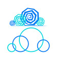 cloud sign on white fogne vector image vector image