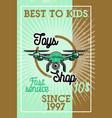 color vintage toys shop banner vector image vector image