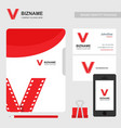 company brochure with business presntation vector image vector image
