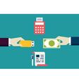 Concept of e-commece Customer pays freelancer vector image