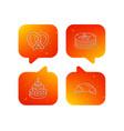 croissant pretzel and pancakes icons vector image
