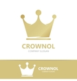 Crown logo template vector image