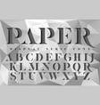 display stencil serif antique font vector image vector image