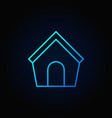 dog house blue icon vector image vector image