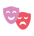 drama comedy masks vector image