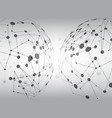 earth polygon line pattern gray background vector image