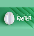 easter holiday flyer with realistic paper egg and vector image vector image