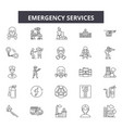 emergency services line icons signs set vector image