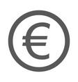 euro symbol icon simple vector image
